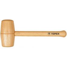 Киянка Topex деревянная, 70 мм, дерев'яна рукоятка (бук) (02A057)