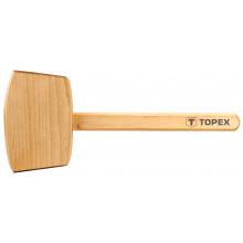 Киянка Topex дерев'яна, 500 г, дерев'яна рукоятка (02A050)