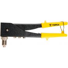 Клепальный инструмент Topex для заклепок алюминиевых 2.4, 3.2, 4.0, 4.8 мм, две позиции (43E712)