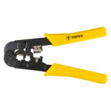 Клещи Topex для обжима телефонных наконечников 6Р, 8Р Topex (32D408)