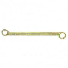 Ключ накидний, 19х22 мм, жовтий цинк,  СИБРТЕХ (MIRI14628)