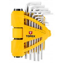 Ключi шестиграннi Topex 1.5-10 мм, набiр 13 шт. (35D970)
