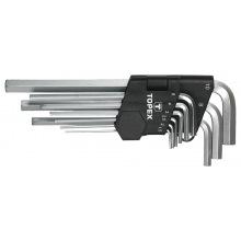 Ключi Topex шестиграннi HEX 1.5-10 мм, набiр 9 шт.*1 уп. (35D956)
