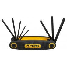 Ключi Topex шестиграннi Torx T9-T40, набiр 8 шт. (35D959)