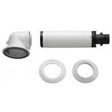 Коаксиальный горизонтальний комплект Bosch AZB 916: отвод 90° + удлинитель 990 - 1200 мм, диаметр 60/100 мм (7736995011)