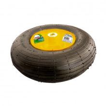 Колесо пневматичне 4.00-6,  D 325 мм, підшипник внутрішній діаметр 16 мм, довжина осі 100 мм,  PALISAD (MIRI689388)
