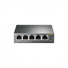 Коммутатор TP-LINK TL-SG1005P 5x1GE/4xPoE 56W, Неуправляемый, Настольный (TL-SG1005P)