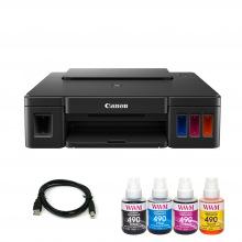 Комплект Принтер Canon Pixma G1411 (без чорнил) + USB кабель + Чорнила WWM по 140г