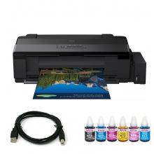 Комплект Принтер Epson L1800 (без чернил) + USB кабель + Чернила WWM по 140г