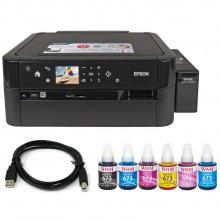 Комплект Принтер Epson L810 (без чернил) + USB кабель + Чернила WWM по 140г