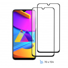 Комплект 2 в 1 защитные стекла 2E для Samsung Galaxy M10s(M107), 2.5D FCFG, black border (2E-G-M10S-LT-BB-2IN1)