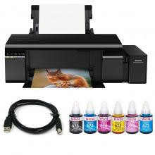 Комплект Принтер Epson L805 (без чернил) + USB кабель + Чернила WWM по 140г