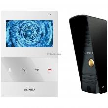 Комплект відеодомофона Slinex SQ-04M White + Панель Slinex ML-16HR Black (SQ-04M_W+ML-16HR_B)