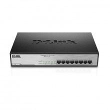 Коммутатор D-Link DGS-1008MP 8xGE PoE, 140W, Стоечный, Неуправляемый (DGS-1008MP)
