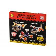 Конструктор металлический Same Toy Inteligent DIY Model Car 3в1 125 ел. (58041Ut)
