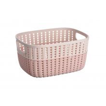 Корзинка Ardesto плетена Sweet Home, 3л, 235*176*120 мм, рожевий, пластик (AR1730BP)