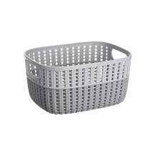 Корзинка Ardesto плетена Sweet Home, 3л, 235*176*120 мм, сірий, пластик (AR1730GP)