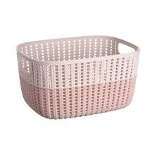 Корзинка плетена Ardesto Sweet Home, 6.8 л, 286*215*150 мм, рожевий, пластик (AR1768BP)