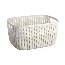 Корзинка Ardesto плетена Sweet Home, 6.8 л, 286*215*150 мм, сірий беж, пластик (AR1768TP)