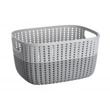 Корзинка Ardesto плетена Sweet Home, 6.8 л, 286*215*150 мм, сірий , пластик (AR1768GP)