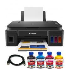 Комплект МФУ Canon Pixma G2411 (без чернил) + USB кабель + Чернила WWM по 200г (KP.CG2411C49)