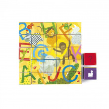 Кубики картонные Janod Алфавит  (J02993)