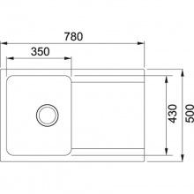 Кухонна мийка Franke Orion Tectonite OID 611-78 Тектонайт/780x500х180/Нідерланди/Сахара (114.0498.032)