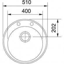 Кухонна мийка Franke RONDA ROG 610 Фраграніт/510х195/Словаччина/Графіт (114.0254.795)