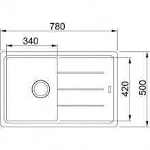 Кухонна мийка Franke BASIS BFG 611-78 Фраграніт/780х500х200/Словаччина/Бежевий (114.0258.039)
