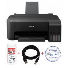 Принтер A4 Epson L1110 (L1110-Promo) Фабрика печати + кабель USB + салфетки