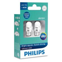 Лампа светодиодная Philips W5W  Ultinon 6000K 12V, 2шт/блистер (11961ULWX2)