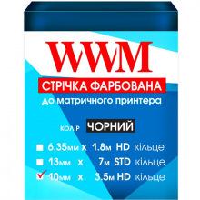 Лента красящая WWM 10мм х 3.5м HD кольцо Refill Black (R10.3.5H)