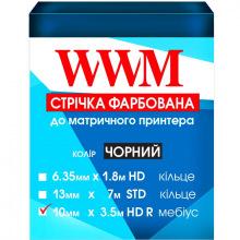 Стрічка фарбуюча WWM 10мм х 3.5 м HD правий Refill Black (R10.3.5HR)