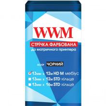 Лента красящая WWM 13мм х 12м HD левый Refill Black (R13.12HM)