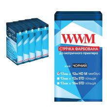 Лента красящая WWM 13мм х 12м HD левый Refill Black (R13.12HM5) 5шт