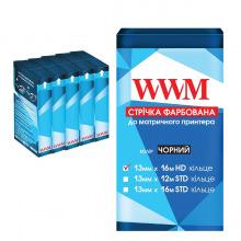 Лента красящая  WWM 13мм х 16м HD кольцо Refill Black (R13.16H5) 5шт