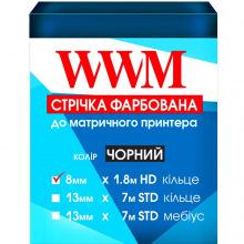 Стрічка фарбуюча WWM 8мм х 1.8 м HD кільце Refill Black (R8.1.8H)