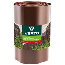 Стрічка Verto газонна 20 cm x 9 m, коричнева (15G515)