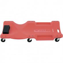 Лежак ремонтний на 6-ти колесах, 1000х475х128 мм, пластиковий,  MTX (MIRI5674859)