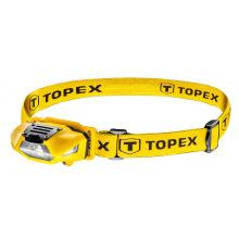 Фонарик налобный TOPEX 70 люменов, батарейки 1xAA (94W390)