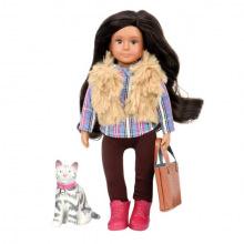 Кукла LORI 15 см Мария и кошка Мока  (LO31060Z)