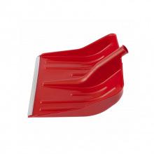 Лопата снігова червона пластмасова 400 х 420 мм, без держака, алюмінієва окантовка, СИБРТЕХ (MIRI61617)