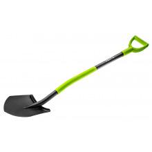 Лопата Verto металлическая ручка, с держателем (15G010)