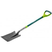 Лопата Verto прямая, металлическая ручка (15G004)
