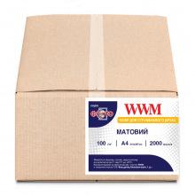 Фотобумага WWM матовая 100Г/м кв, А4, 2000л (M100.2000)