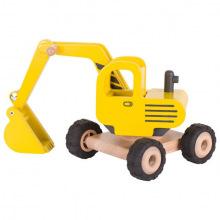 Машинка деревянная goki Экскаватор (желтый)  (55898G)