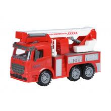 Машинка инерционная Same Toy Truck Пожарная машина с подъемным краном  (98-617Ut)