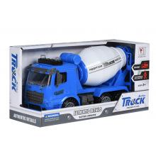 Машинка инерционная Same Toy Truck Бетономешалка синя со светом и звуком  (98-612AUt-1)
