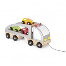 Машинка Janod Автовоз і 3 машинки  (J05603)