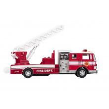 Машинка металлическая goki Пожарная машина с лесницей красная  (12115G-2)